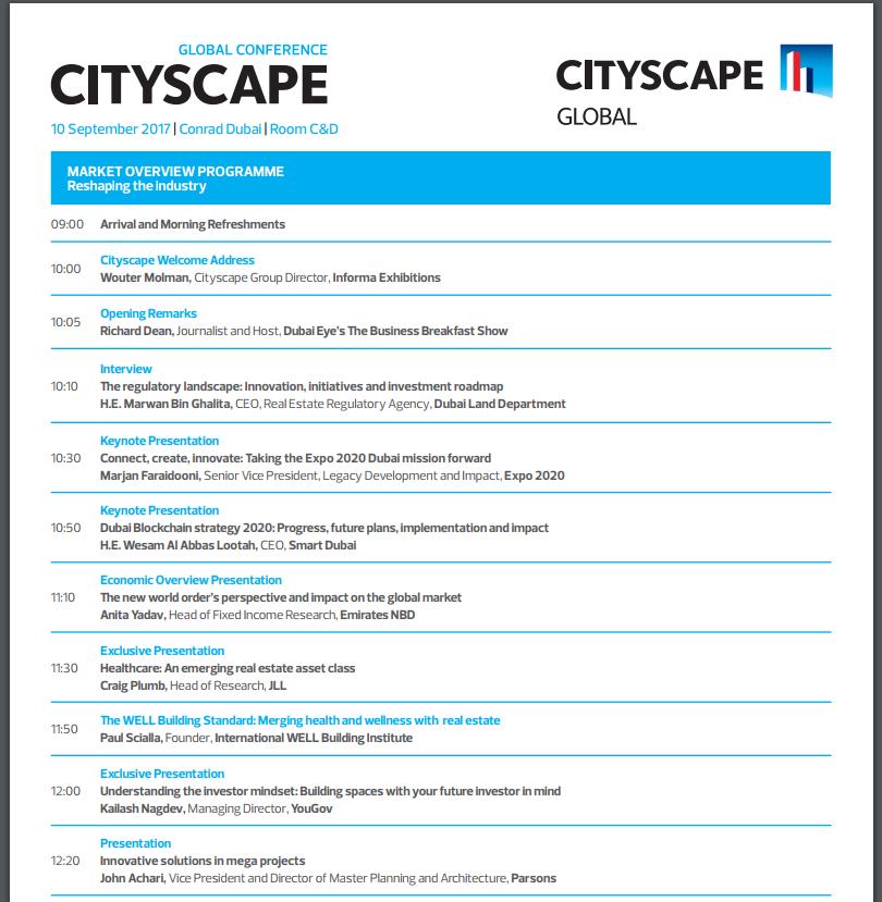 Real Estate Conference - Dubai | Cityscape Global